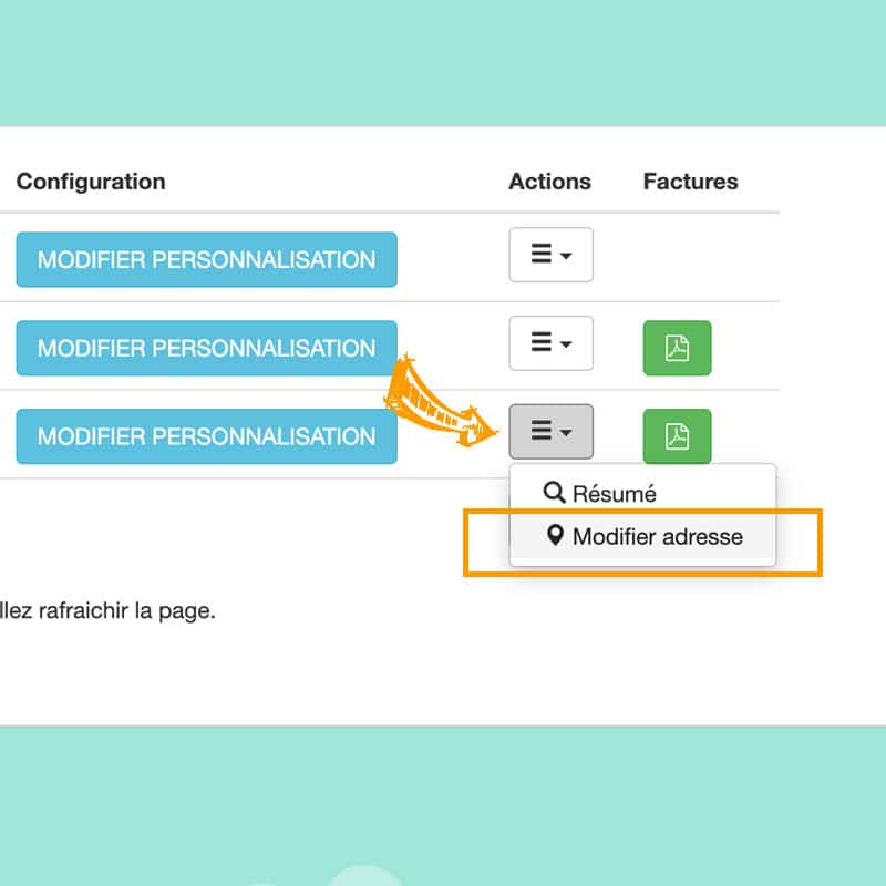La modification de votre adresse de livraison et de retour dans votre espace client BURDDY
