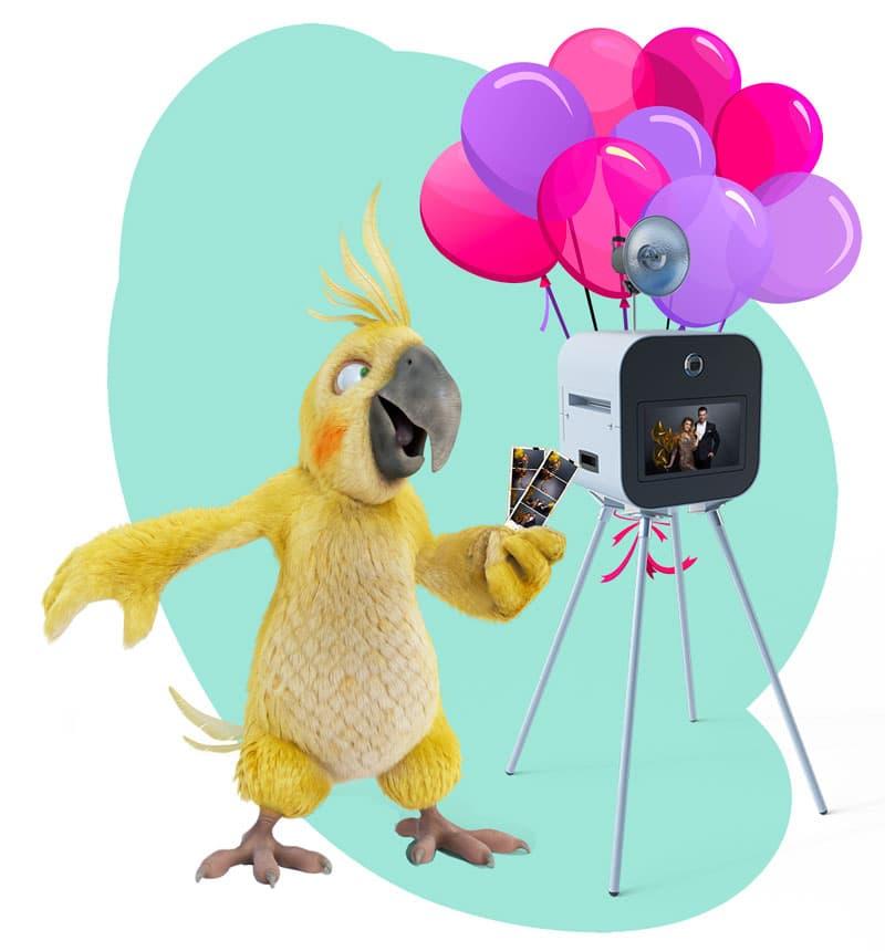 Un photobooth d'anniversaire avec BURDDY