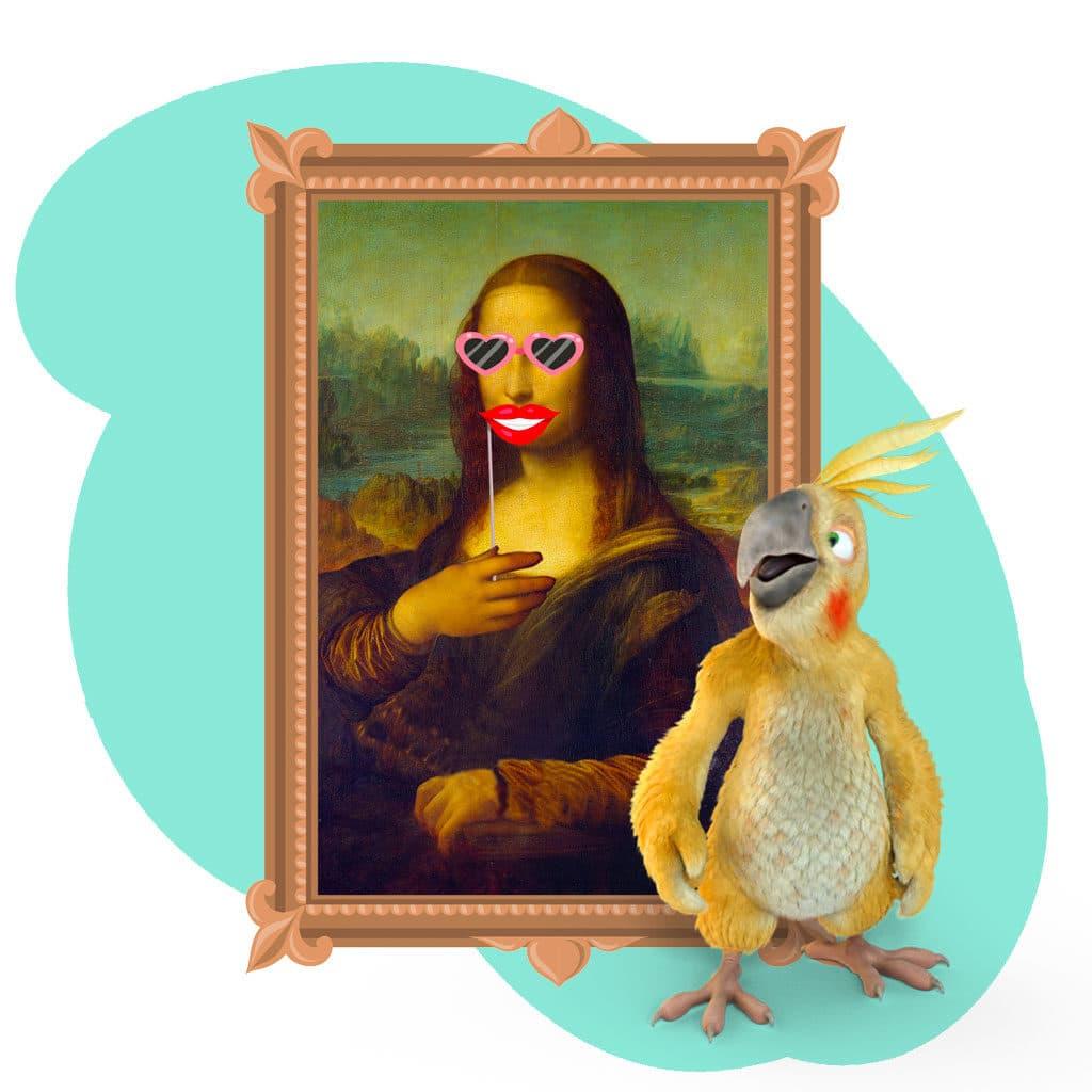 Même Mona Lisa se prête au jeu du photobooth !